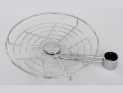 Karos fémpolc kör alakú